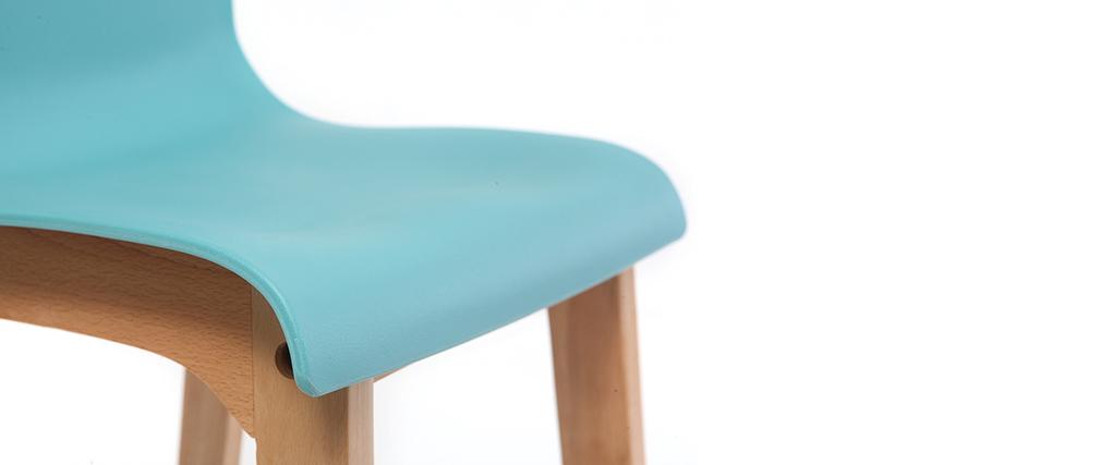 Sgabello da bar design legno e foglia di té 75cm gruppo di 2 NEW SURF
