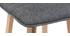 Sgabello da bar design legno e grigio scuro 65cm gruppo di 2 EMMA