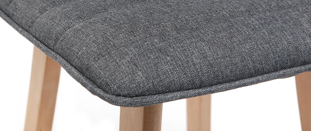 Sgabello da bar design legno e grigio scuro 65cm set di 2 EMMA