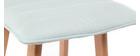Sgabello da bar design legno e verde acqua 65cm gruppo di 2 EMMA