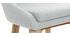Sgabello da bar design legno poliestere grigio chiaro 65cm DALIA