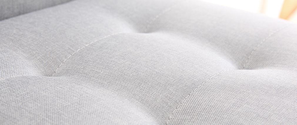 Sgabello da bar design metallo e tessuto grigio chiaro 66cm set di 2 HALEY