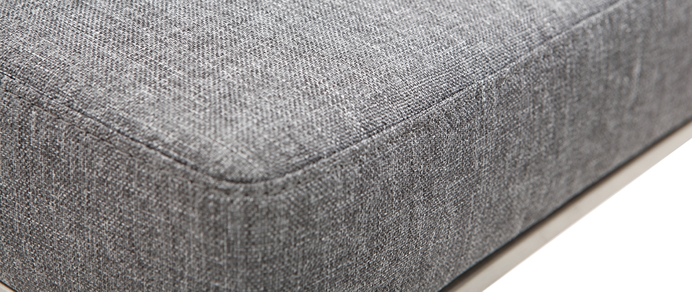 Sgabello da bar design metallo e tessuto grigio scuro 66cm set di 2 HALEY