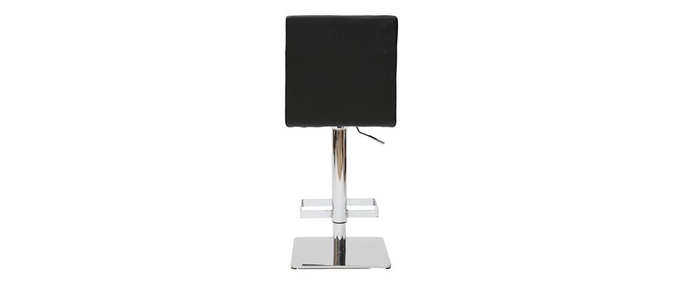 Sgabello da bar design nero COLOMBUS