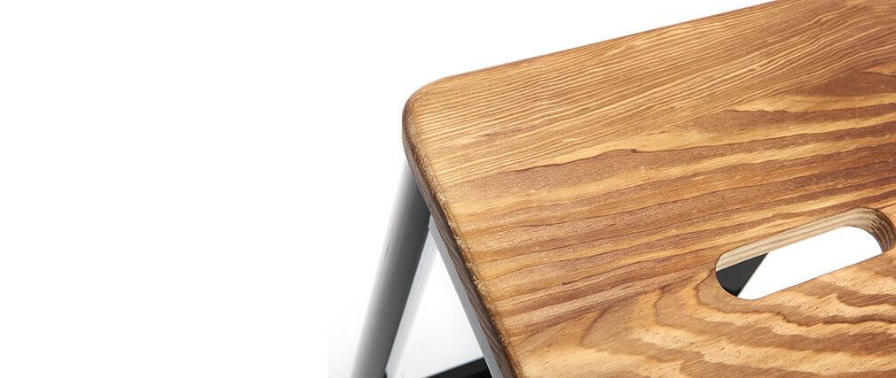 Sgabello da bar design nero H65cm NICK