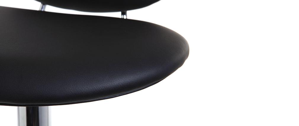 Sgabello da bar design nero STONE