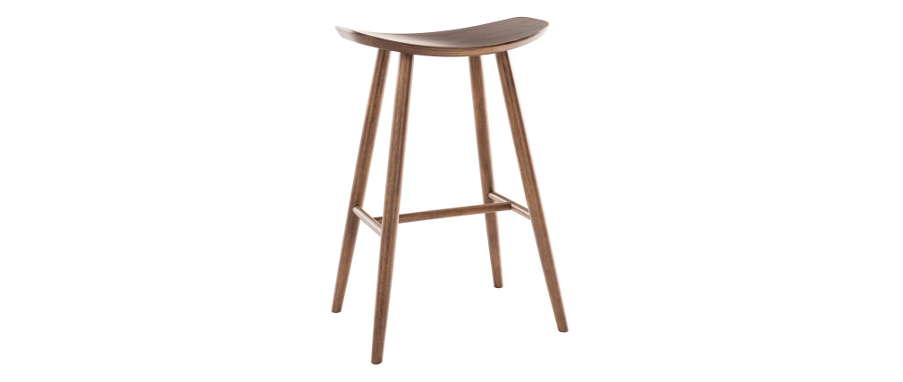 Sgabello da bar design noce 72 cm DEMORY
