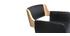 Sgabello da bar design poliuretano Nero e legno chiaro RAY