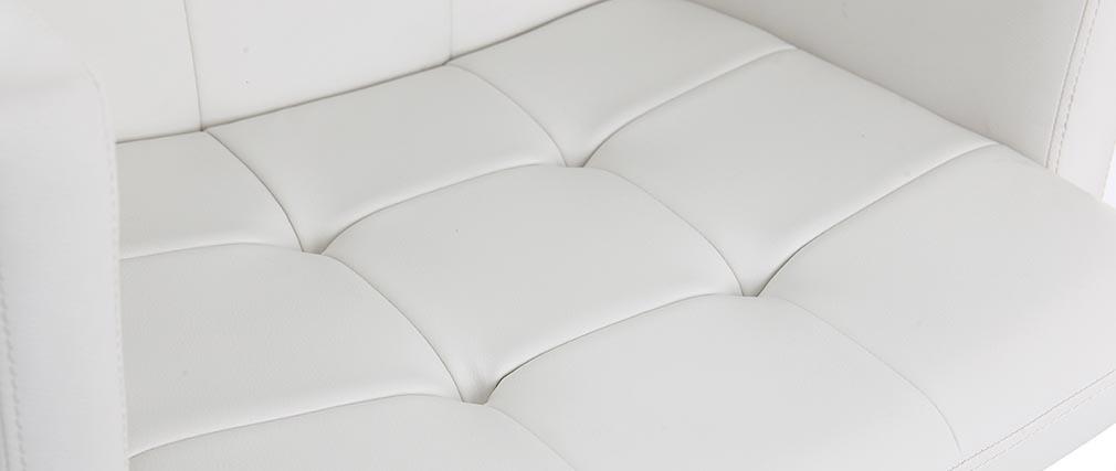 Sgabello da bar design PU bianco BLAKE