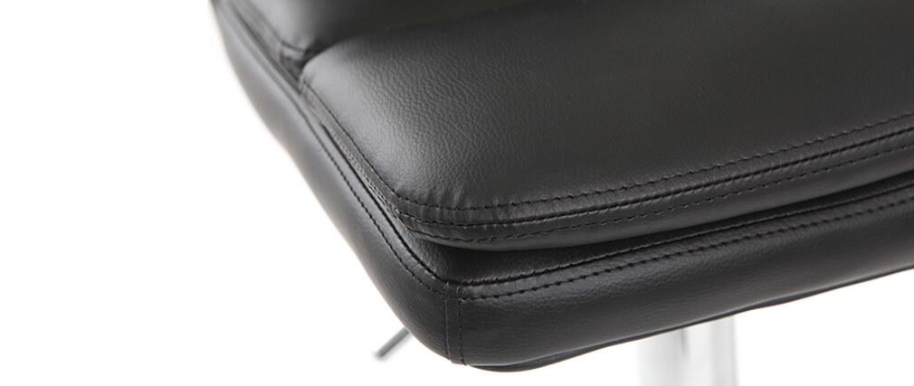 Sgabello da bar design PU nero set di 2 CLARK