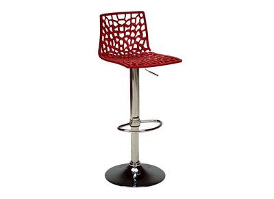 Sgabello da bar design rosso ATRAX