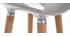 Sgabello da bar design scandinavo grigio (gruppo di 2) GILDA