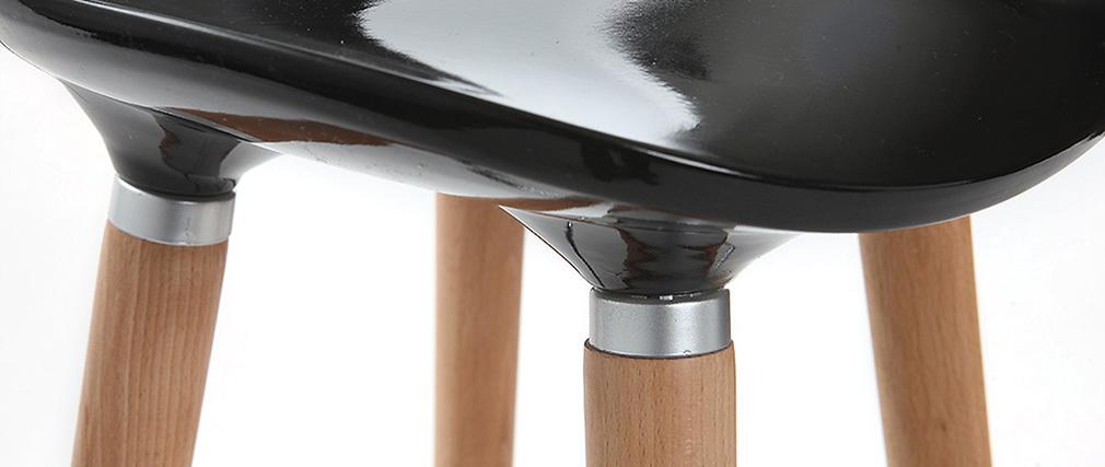 Sgabello da bar design scandinavo nero (gruppo di 2) GILDA
