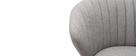 Sgabello da bar design tessuto grigio 65 cm DALLY