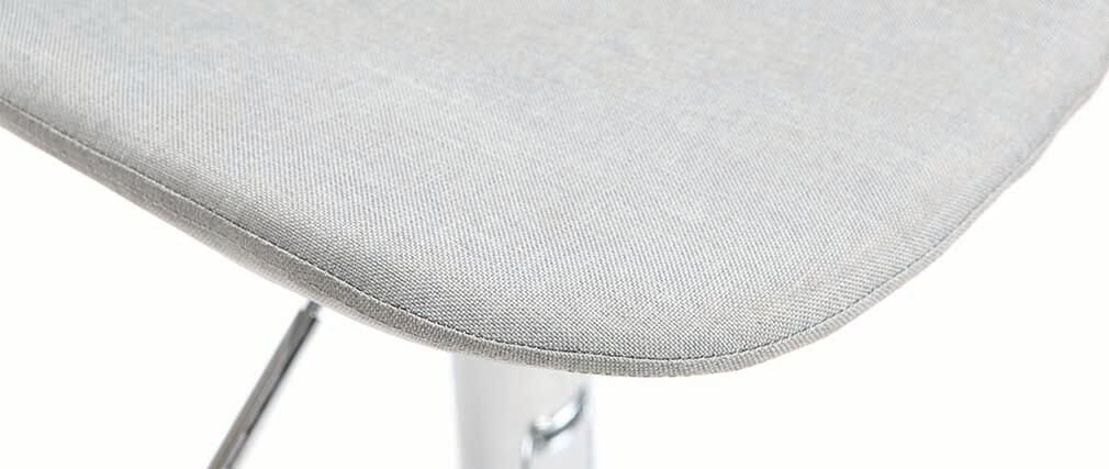 Sgabello da bar design tessuto grigio chiaro gruppo di 2 ZACK