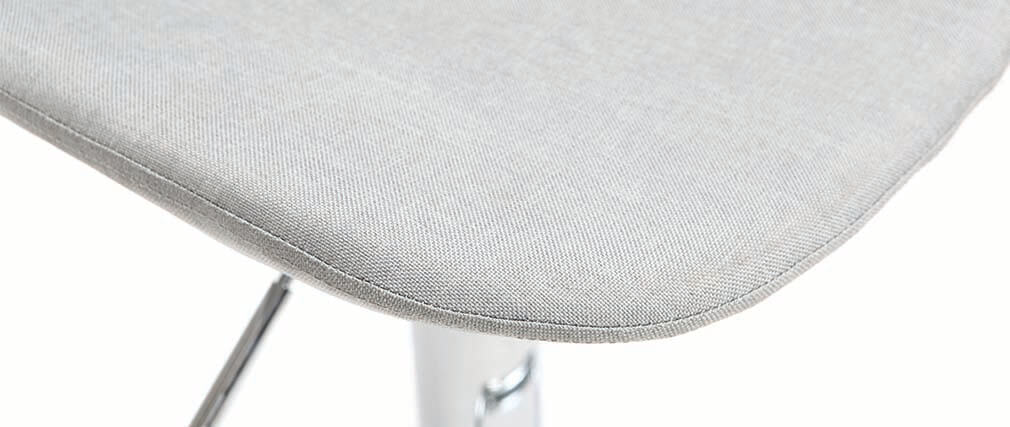 Sgabello da bar design tessuto grigio chiaro set di 2 ZACK