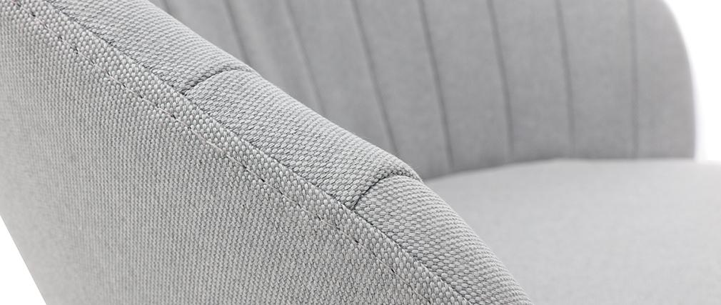 Sgabello da bar design tessuto grigio IZAAC