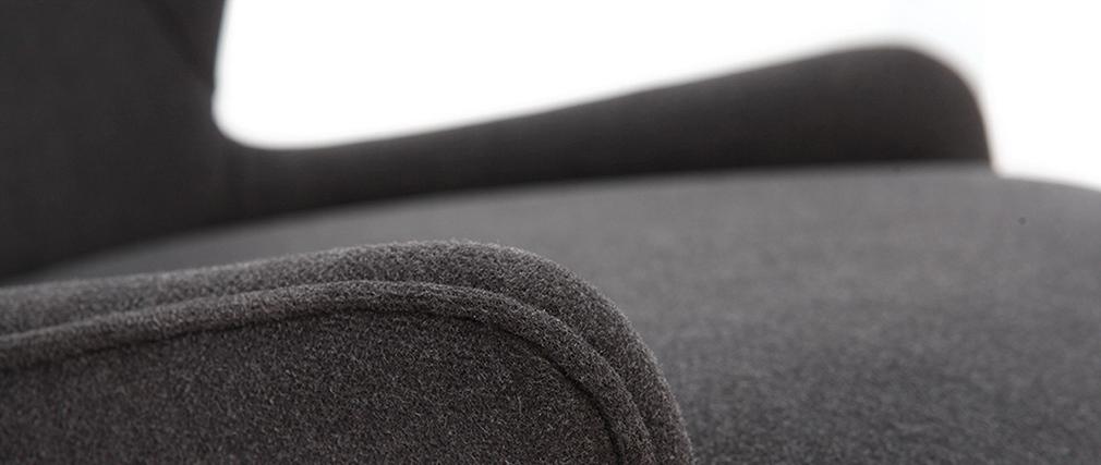 Sgabello da bar design tessuto grigio piedi in frassino BJORG