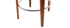 Sgabello da bar design tessuto grigio piedi in noce BJORG