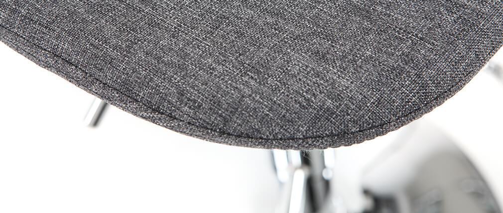 Sgabello da bar design tessuto grigio scuro gruppo di 2 ZACK