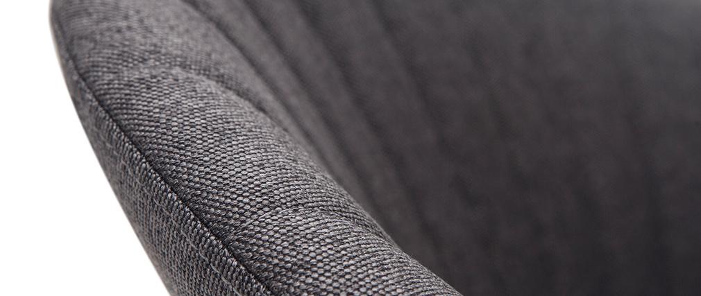Sgabello da bar design tessuto grigio scuro  IZAAC