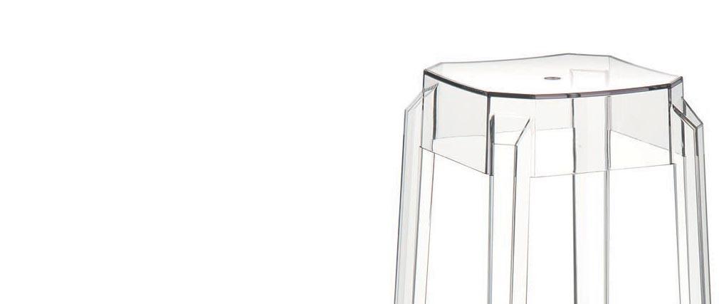 Sgabello da bar design trasparente 75cm coppia di 2 CLEAR