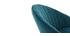 Sgabello da bar design velluto blu petrolio IZAAC