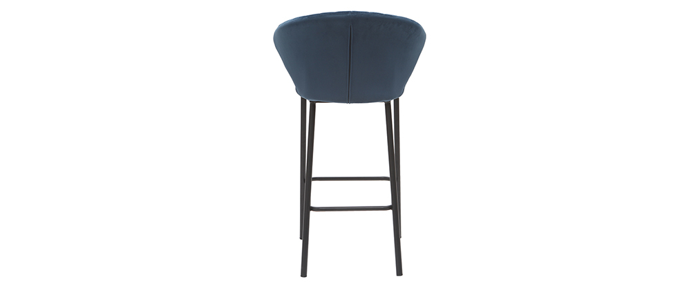 Sgabello da bar design velluto blu scuro 65 cm DALLY