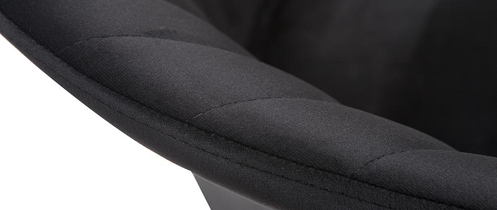 Sgabello da bar design velluto nero 65 cm DALLY