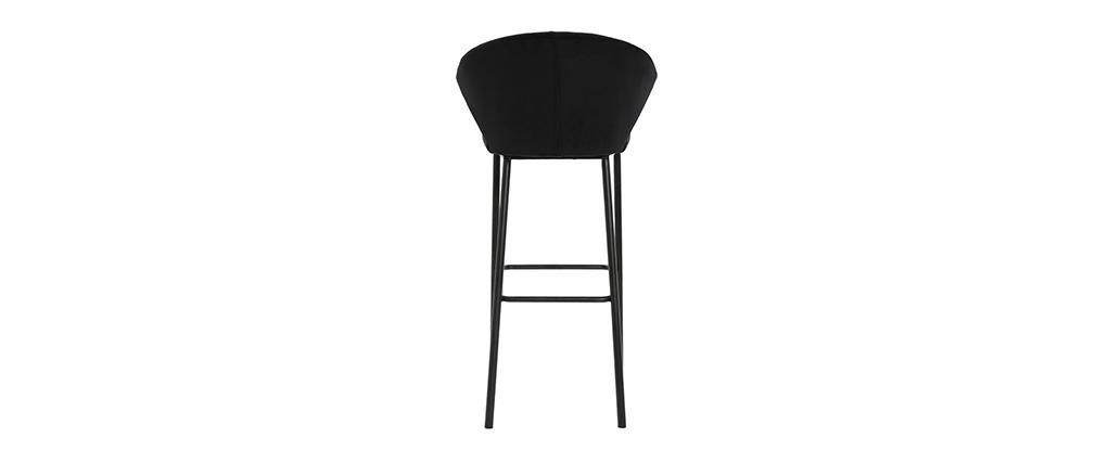 Sgabello da bar design velluto nero 78 cm DALLY