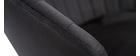 Sgabello da bar design velluto nero IZAAC