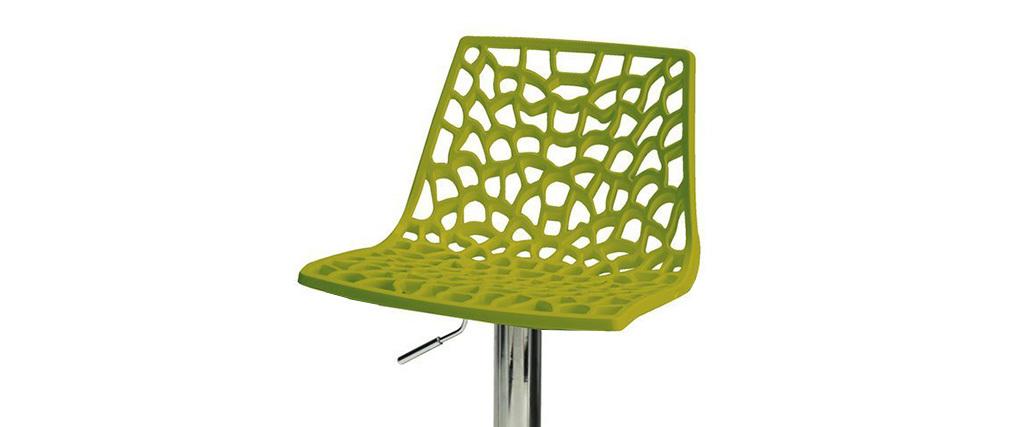 Sgabello da bar design verde ATRAX