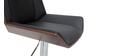 Sgabello da bar di design bianco e legno chiaro MELKIOR