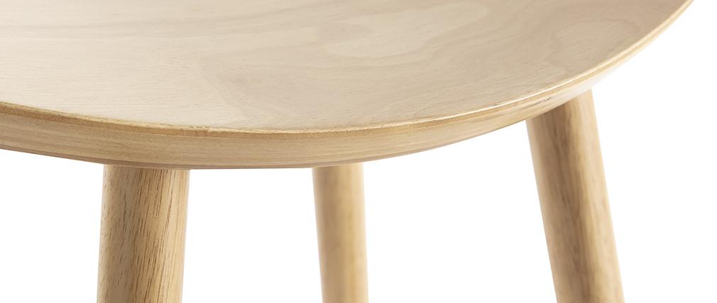 Sgabello da bar di design legno chiaro 65 cm DEMORY