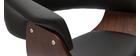 Sgabello da bar di design regolabile in legno scuro e nero OKTAV
