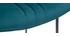 Sgabello da bar in velluto blu petrolio e metallo H65 cm GOTHAM