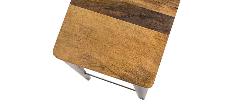Sgabello da bar industriale in acciaio e legno 75 cm MADISON