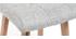 Sgabello da bar legno e grigio perla 65cm gruppo di 2 KLARIS