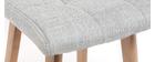 Sgabello da bar legno e grigio perla 65cm set di 2 KLARIS