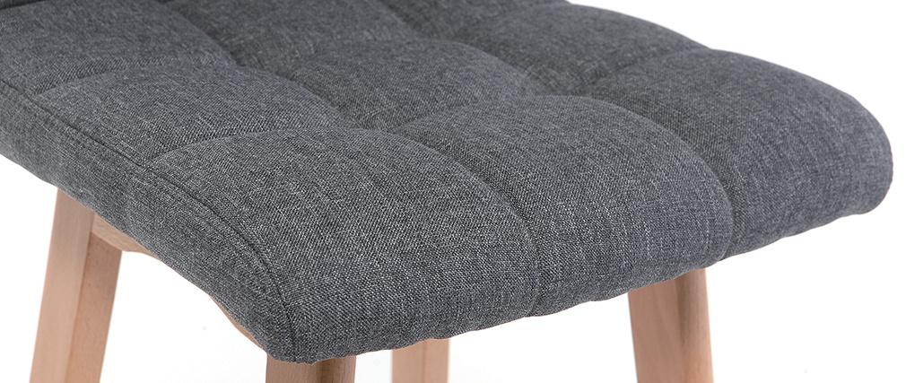 Sgabello da bar legno e grigio scuro 65cm gruppo di 2 KLARIS