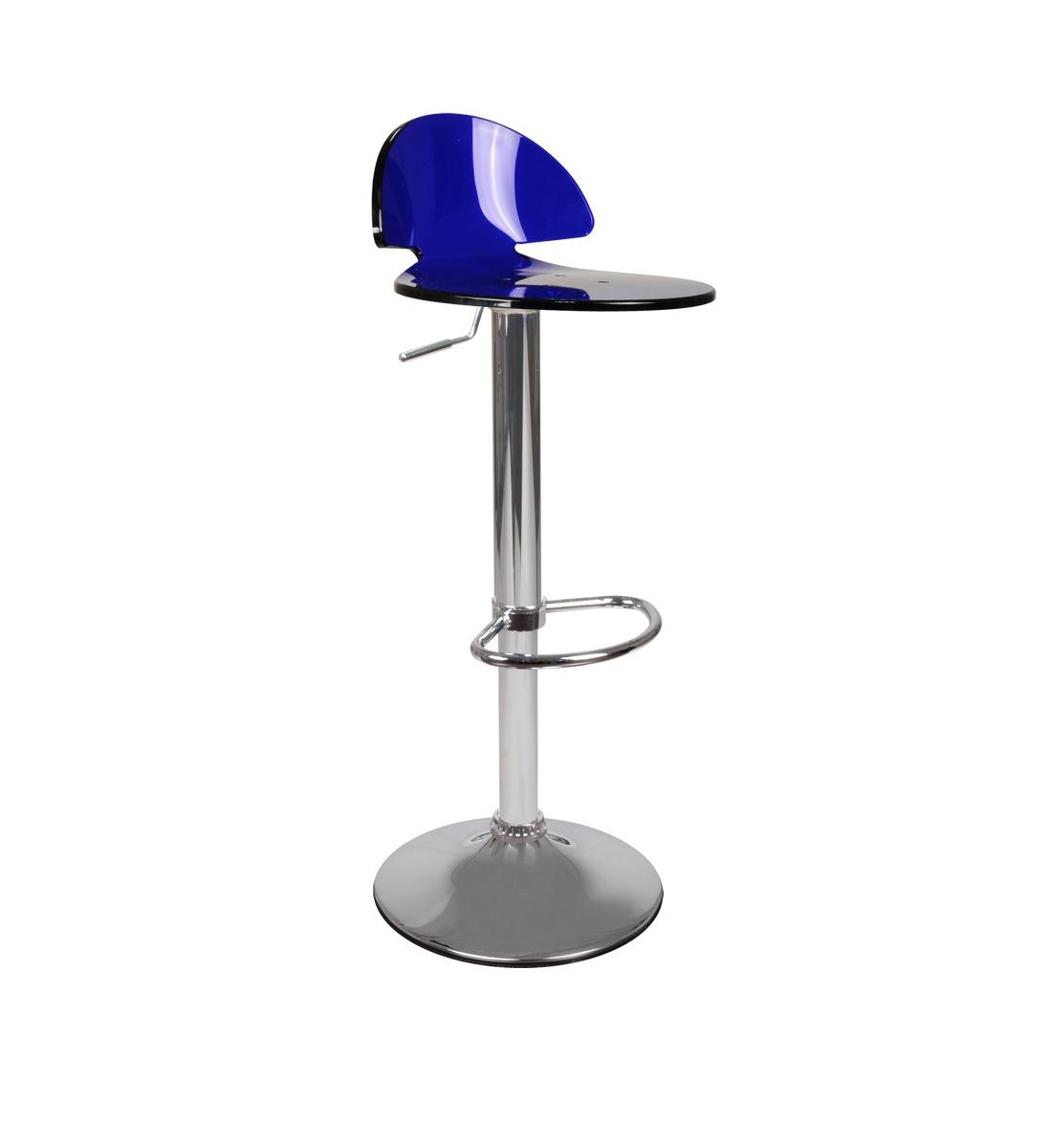 Sgabello da bar Orion plexiglas blu
