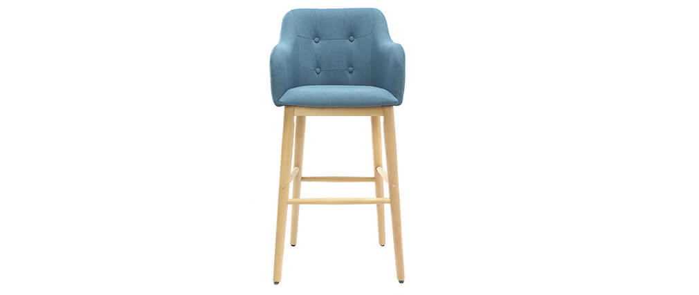 Sgabello da bar scandinavo 75cm blu BALTIK
