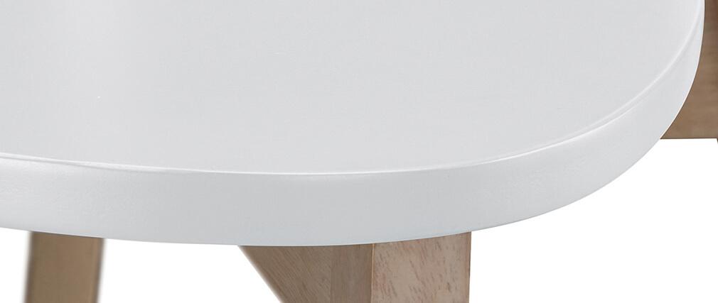 Sgabello da bar scandinavo bianco e legno 75cm gruppo di 2 LEENA