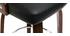 Sgabello da bar scandinavo nero e legno scuro GARBO