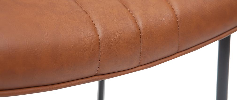 Sgabello da bar vintage marrone chiaro e metallo H65 cm GOTHAM