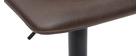 Sgabello da bar vintage PU marrone 61cm set di 2 NEW ROCK
