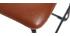 Sgabello da bar vintage PU marrone chiaro 61cm gruppo di 2 NEW ROCK