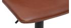 Sgabello da bar vintage PU marrone chiaro 61cm set di 2 NEW ROCK