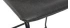 Sgabello da bar vintage PU nero 61cm set di 2 NEW ROCK