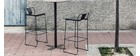 Sgabello da giardino design metallo nero 76cm TENERIFE